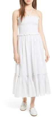 Rebecca Taylor Metallic Stripe Maxi Dress