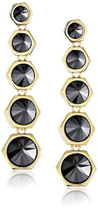 Rachel Zoe Cleo Gold-Plated Pyramid Drop Earrings
