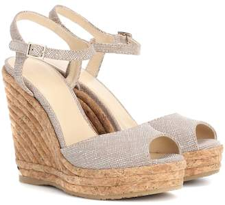 Jimmy Choo Perla 120 platform wedge sandals