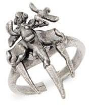 Valentino Argento Statement Ring
