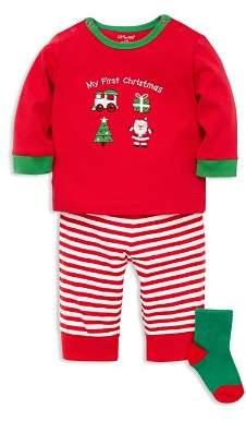 Little Me Boys' My First Christmas Shirt, Pants & Socks Set - Baby