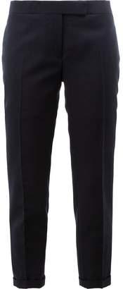 Thom Browne Lowrise Skinny Trousers In Navy 2-Ply Wool Fresco