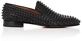 Christian Louboutin Men's Spiked Dandelion Venetian Loafers - Black