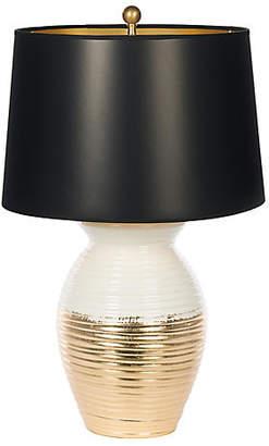 One Kings Lane Bradburn Home For Ada Jar Couture Lamp - Gold Leaf/White