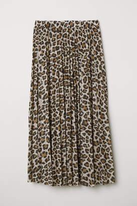 H&M Pleated Skirt - Beige