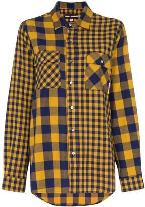 Double Rainbouu oversized check shirt