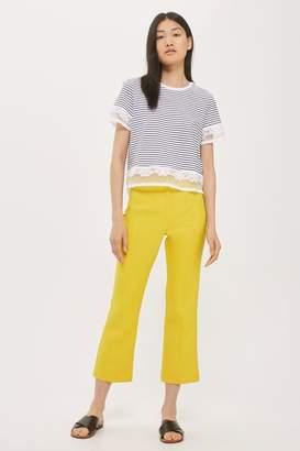 Tall stripe dobby trim t-shirt
