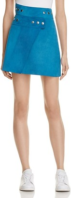Maje Joseph Suede Wrap Skirt - 100% Exclusive $545 thestylecure.com