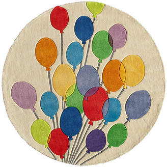 Momeni Lil Mo Multi Balloons Hand Tufted Round Rugs
