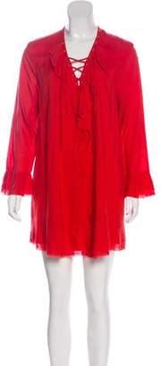 IRO Long Sleeve Lace-Up Dress