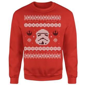 Star Wars Christmas Stormtrooper Knit Red Christmas Sweatshirt