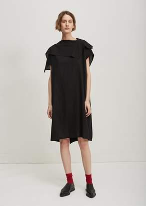 Zucca Handkerchief Gabardine Dress Black