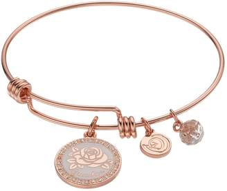 "Love This Life love this life Crystal ""Grandma"" Flower Charm Bangle Bracelet"