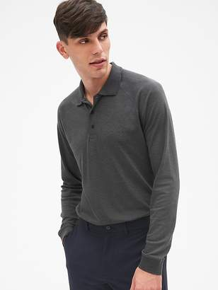 Gap GapFit Breathe Long Sleeve Pique Polo Shirt