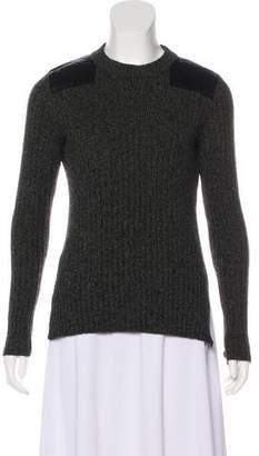 Rag & Bone Satin-Accented Cashmere Sweater