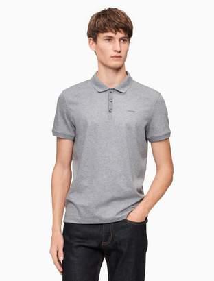 Calvin Klein classic fit liquid cotton interlock polo shirt