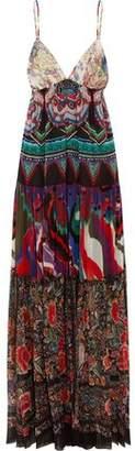 Roberto Cavalli Printed Silk-Georgette Maxi Dress