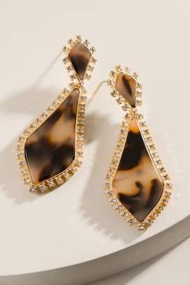 francesca's Teylor Tort Earrings - Amber