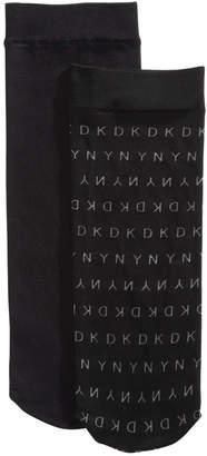 DKNY 2-Pk. Logo Anklet Socks