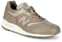 New Balance Logo Leather Sneakers
