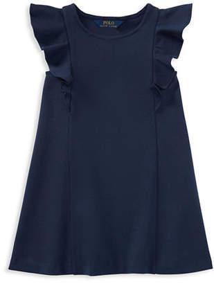 Ralph Lauren Ponte Flutter-Sleeve Dress
