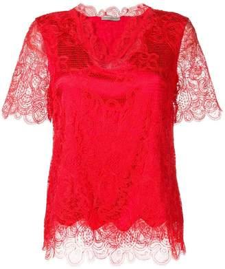 Ermanno Scervino open lace blouse