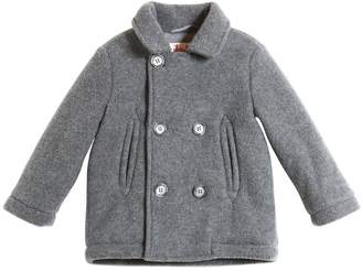 Il Gufo Double Breasted Padded Felt Coat