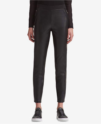 DKNY Mixed-Media Skinny Pants