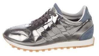 Alberto Fasciani Metallic Low Top Sneakers