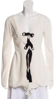 Proenza Schouler Long Sleeve Lace-Up Tunic