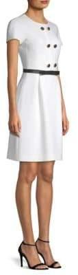 Michael Kors Wool Button Shift Dress