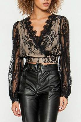 Flying Tomato Black Lace Top