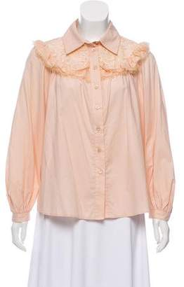 See by Chloe Long Sleeve Button-Up Top