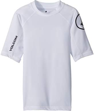 Volcom Lido Solid Short Sleeve Rashguard Boy's Swimwear