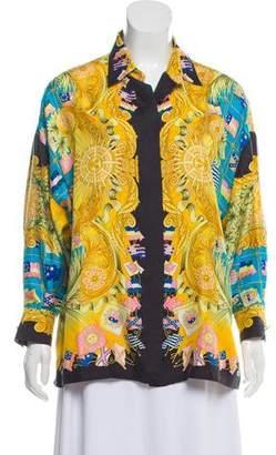 017bae86ee4 Gianni Versace Vintage Silk Printed Top