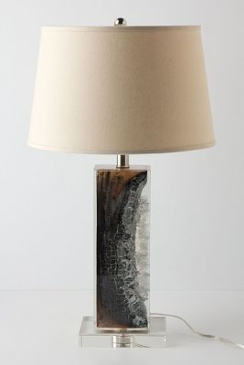 Anthropologie Scorched Timber Lamp Base
