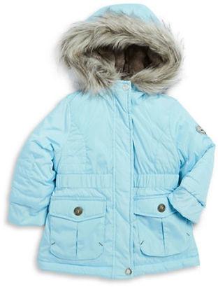 Jessica Simpson Girls 2-6x Faux Fur Trimmed Puffer Coat $108 thestylecure.com