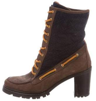 Hunter Suede Lace-Up Ankle Boots