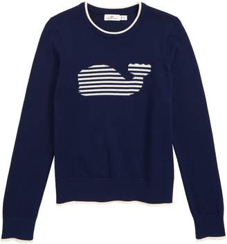 Vineyard Vines Stripe Whale Intarsia Sweater