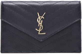 Saint Laurent Monogramme Chain Wallet in Black | FWRD