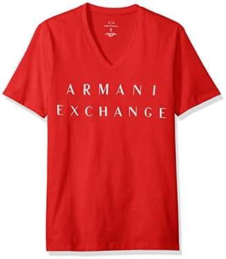 Armani Exchange A|X Men's Basic Logo V Neck Tee