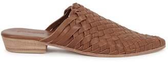 ST. AGNI Paris 25 Brown Woven Leather Mules