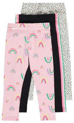 George Rainbow Print Leggings 3 Pack