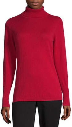 WORTHINGTON Worthington Womens Turtleneck Long Sleeve Pullover Sweater