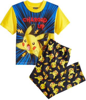 Pokemon 2-Pc. Charged Up Pikachu Pajama Set, Little Boys & Big Boys