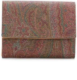Etro paisley print trifold wallet