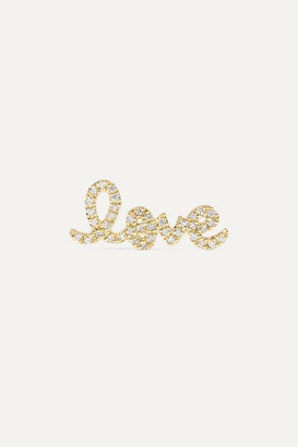 Sydney Evan Love 14-karat Gold Diamond Earring