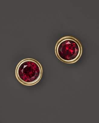 Bloomingdale's Rhodolite Garnet Bezel Set Stud Earrings in 14K Yellow Gold - 100% Exclusive
