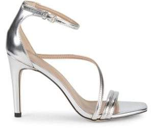 BCBGeneration Isabel Metallic Stiletto-Heel Sandals