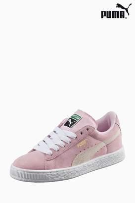 Next Girls Puma Pink Suede Classic Trainer